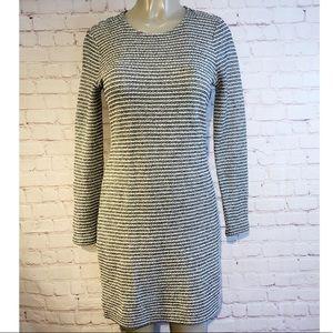 Banana Republic black and cream knit dress